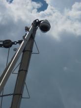 Camera on a mast