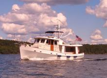 Kadey-Krogen cruising on the water